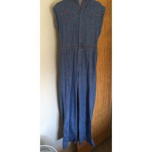 Vintage Light Denim Boiler Suit